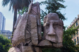 Memorial to the Native People, created by E. Villalonosの写真素材 [FYI02340455]