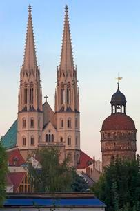 Towers of the late Gothic Church of St. Peter in theの写真素材 [FYI02340474]