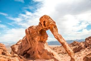 Elephant Rock, rock formation, sandstone formation, Valleyの写真素材 [FYI02340559]