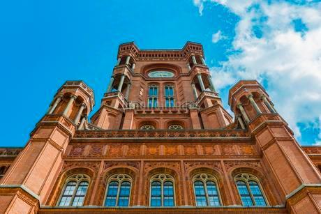 Rotes Rathaus, Red City Hall, red brick buildingの写真素材 [FYI02340610]