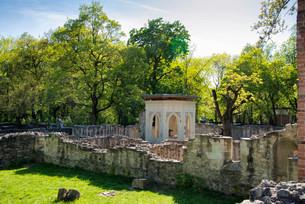 Ruins of the Dominican convent Domonkos kolostor, Margaretの写真素材 [FYI02340635]