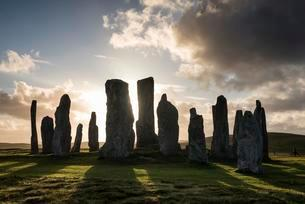 Callanish Standing Stones, 3000 year old stone circleの写真素材 [FYI02340641]