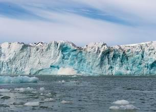 Lilliehook glacier, Lilliehook fjord, Spitsbergen Islandの写真素材 [FYI02340676]