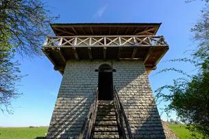 Limes, Limes tower in Erkertshofen near Tittingの写真素材 [FYI02340684]