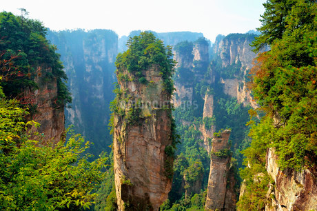 """""Avatar"""" mountains with vertical quartz sandstone rocksの写真素材 [FYI02340691]"