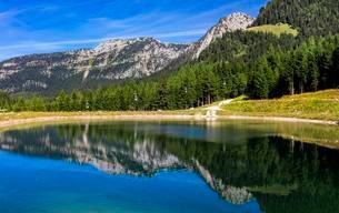 Reservoir at Jenner, Berchtesgadener Land districtの写真素材 [FYI02340707]