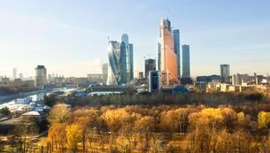 Moscow business centre, Krasnopresnenskaya quay, Moscowの写真素材 [FYI02340736]