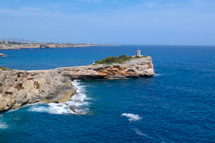 Morro de Sa Carabassa, Porto Cristo, Majorca, Balearicの写真素材 [FYI02340779]