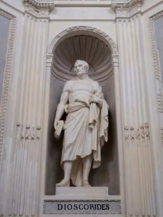 Statue of Dioscorides at Villa Giulia, Palermo, Sicilyの写真素材 [FYI02340820]
