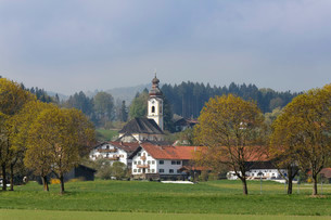 Holy Cross Church, Berbling, Bad Aibling, Upper Bavariaの写真素材 [FYI02340862]