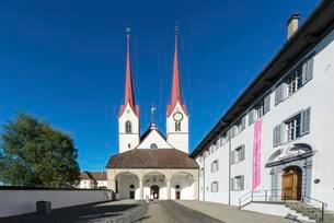 Muri Abbey, main entrance, Muri, Aargau Switzerlandの写真素材 [FYI02340943]