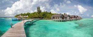 Tropical Island, Gangehi Island, Ari Atoll, Indian Oceanの写真素材 [FYI02340964]