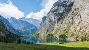 Lake Obersee, Salet am Konigssee, National Parkの写真素材 [FYI02340972]