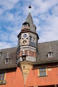 Moondial on the Lanzenturmchen tower, New Town Hallの写真素材 [FYI02340975]