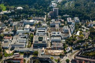 Aerial view, University Hospital Essen, Essen, Ruhrの写真素材 [FYI02341019]
