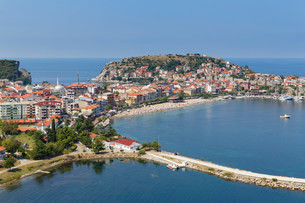 Harbour town of Amasra, Bartin Province, coast of theの写真素材 [FYI02341027]