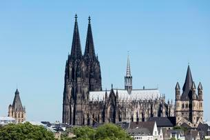 Town Hall, Cathedral, Church of St. Martin, Cologne, Northの写真素材 [FYI02341085]