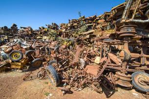 Tank cemetery, Asmara, Eritrea, Africaの写真素材 [FYI02341122]