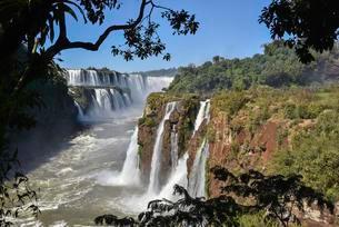 View of the Garganta del Diablo, Devil's Gap, Iguazu Fallsの写真素材 [FYI02341146]