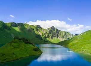 Schrecksee with Allgau mountains, Allgau Alps, Allgauの写真素材 [FYI02341272]