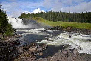 Tannforsen Waterfall, are, Jamtland County, Swedenの写真素材 [FYI02341288]