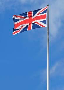 The Union Jack, national flag of the United Kingdom ofの写真素材 [FYI02341328]