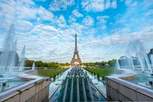 Eiffel Tower, Tour Eiffel and Trocadero, Parisの写真素材 [FYI02341334]
