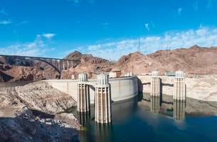 Hoover Dam, Lake Mead Recreation Area, Arizona, Nevadaの写真素材 [FYI02341351]