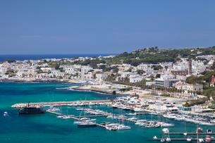 Santa Maria di Leuca with harbor, Province of Lecceの写真素材 [FYI02341463]