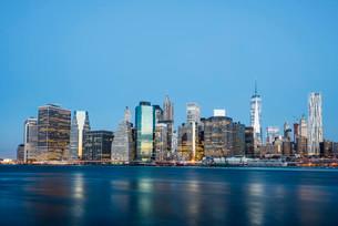 Skyline Downtown, Manhattan, New York, United States, Northの写真素材 [FYI02341488]