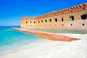 Fort Jefferson, Dry Tortugas National Park, Florida, USAの写真素材 [FYI02341569]