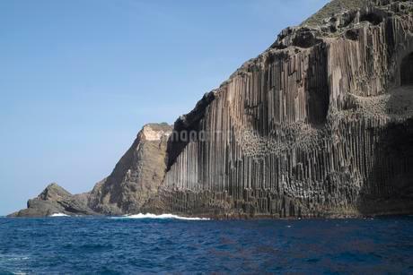 Basalt columns Los organos, La Gomera, Canary Islandsの写真素材 [FYI02341608]