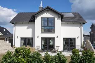 Family house in Hohenbuschei, new development areaの写真素材 [FYI02341613]