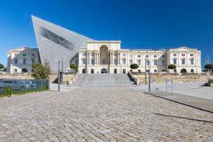 Bundeswehr Military History Museum, main building, Dresdenの写真素材 [FYI02341659]
