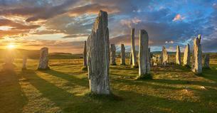 Callanish Stones, Tursachan Chalanais, neolithic standingの写真素材 [FYI02341764]