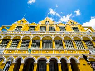 Historic building in the Dutch-Caribbean colonial styleの写真素材 [FYI02341833]