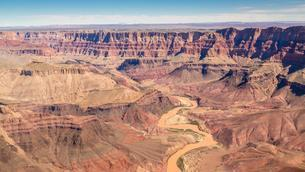 Landscape, panorama, rock, canyon, Colorado River, aerialの写真素材 [FYI02341861]