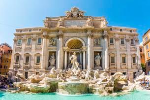 Trevi Fountain, Fontana di Trevi, landmark, Rome, Lazioの写真素材 [FYI02342025]