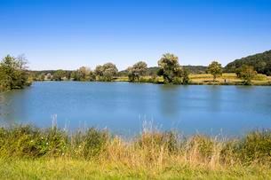 Source of Altmuhl River, Hornauer Pond near Windelsbachの写真素材 [FYI02342087]