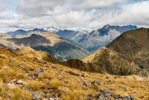 Kepler Mountains, Southern Alps at back, Kepler Trackの写真素材 [FYI02342132]