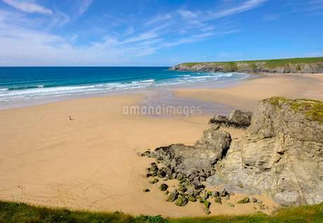 Holywell Beach, Holywell Bay, near Newquay, Cornwallの写真素材 [FYI02342171]