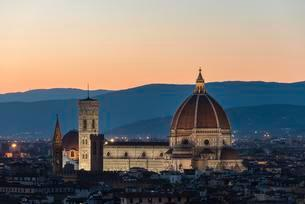 View from Piazzale Michelangelo, evening mood withの写真素材 [FYI02342203]