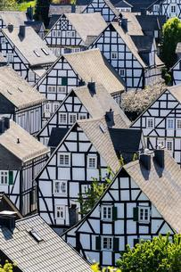 Gables of old half-timbered houses, Alter Flecken, historicの写真素材 [FYI02342472]