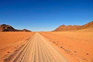 Sandtrack through the Tiras Mountains, Namibia, Africaの写真素材 [FYI02342500]