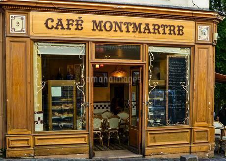 Cafe Montmartre, Paris, Region Ile-de-France, Franceの写真素材 [FYI02342507]