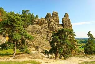 Teufelsmauer, near Blankenburg, Saxony-Anhalt, Germanyの写真素材 [FYI02342517]