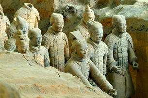 Terracotta Army, Hall 1, Mausoleum of the First Qinの写真素材 [FYI02342533]