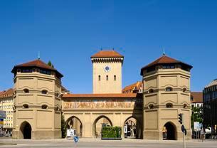 Isar gate, old town, Munich, Upper Bavaria, Bavariaの写真素材 [FYI02342668]