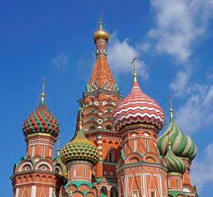 Saint Basil Cathedral, Red Square, Moscow, Russia, Europeの写真素材 [FYI02342671]