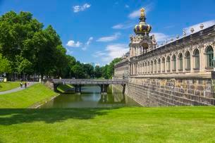 Outside view of the Kronentor, Zwinger, Dresden, Saxonyの写真素材 [FYI02342717]